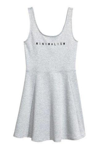 🚚 【H&M】甜美風灰色無袖洋裝/連身裙