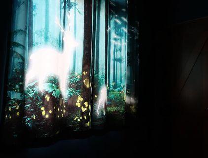 🌲💤🦌  夢幻森林小鹿窗簾 門簾 美式 窗簾