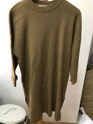🚚 韓國購入 土色洋裝