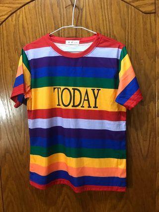 🚚 彩虹配色上衣