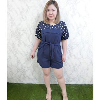 c8246e730e (SALES) Plus Size Baby Doll Hearts Pockets Basic Causal Premium Romper