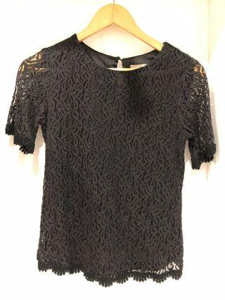 Forecast black lace top