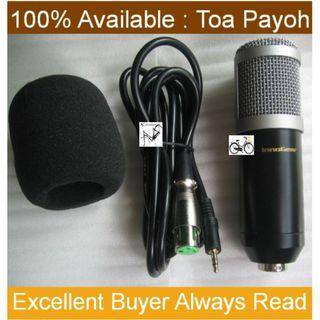 Innogear Condenser Microphone . with XLR to 3.5mm cable and foam cap