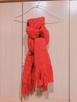 紅色條紋圍巾🧣