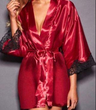 Frederick's of Hollywood Siren Red Kimono