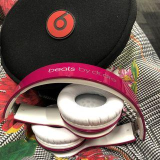 Hot Pink Beats By Dr.Dre Solo HD Headphones