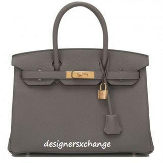 Hermes Birkin 30 Etain (Grey) Togo Gold Hardware Brand New with Hermes Receipt (BNIB)