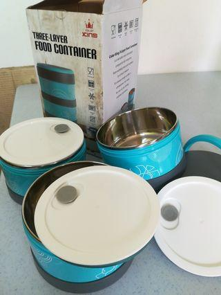 3 layer food container