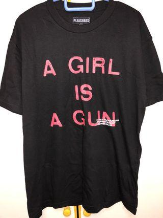"🚚 Pleasures ""A Girl is a Gun"" tee"