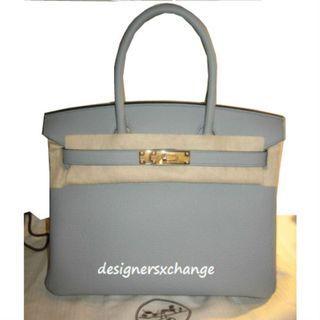 Hermes Birkin 30 Gris Mouette (Grey) Togo Gold HW Brand NEW with Hermes Receipt