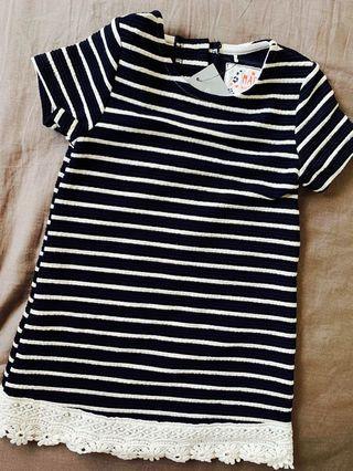 🚚 BABY GIRL Striped Dress