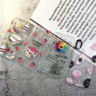 [po] #070 cartoon doodles transparent phone case