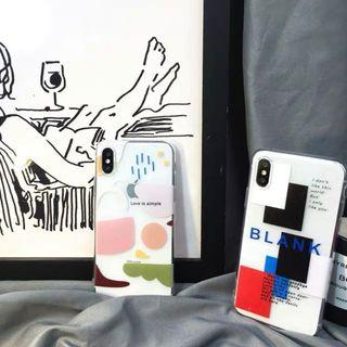 [po] #071 abstract blocks transparent phone case