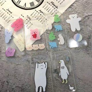 [po] #072 gummy bears & bears transparent phone case