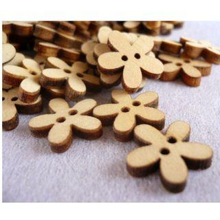 WB09030 - 15mm mini star wood buttons, wooden buttons (10 pieces)  #craft