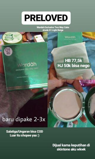 Wardah Exclusive Two Way Cake shade 01
