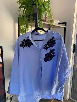 Zara blouse loose fit size XL