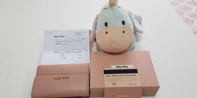 🚚 Miu Miu Ladies Wallet guaranteed authentic.