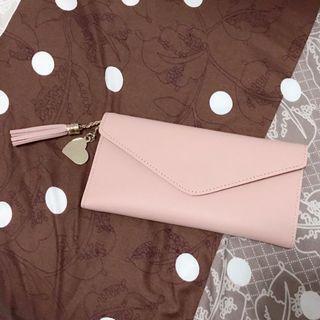 Dompet Panjang Tipis Pink Miniso Wallet Lookalike