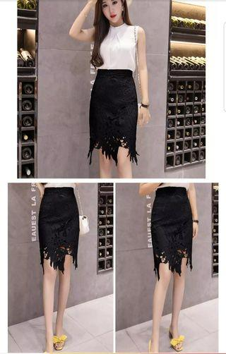 🚚 Black Lace Skirt