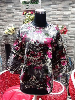 Blouse Grey Flower