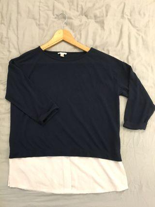 Esprit Soft Knit Top in Navy Blue