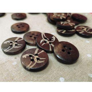 WB12056 - 23mm Wood Buttons, Wooden Buttons (10 pieces)   #craft