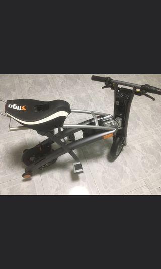 Stigo scooter with seat