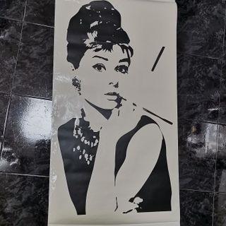🚚 Audrey Hepburn Wall Decal (110cm x 90cm)