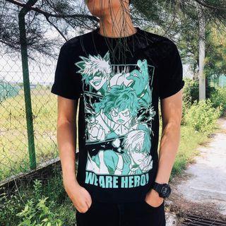 Boku no hero academia t-shirt (midoriya, bakugou & todoroki)