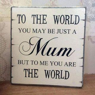 Mothers day gift mum plaque sign