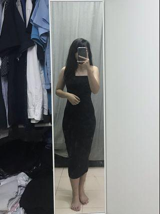 INS black bodycon tube dress