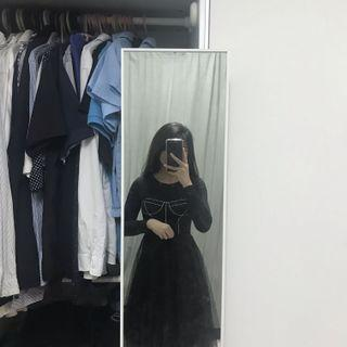 INS black tutu flare skirt