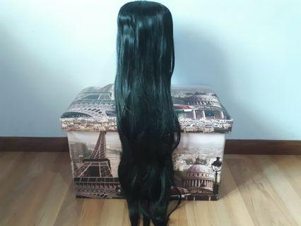 URGENT CLEARANCE Black 80cm Cosplay Wig