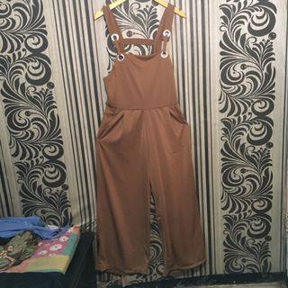 HARGA BELI 180k Brown Jumpsuit / overall coklat