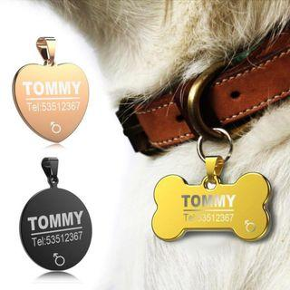 🚚 Pet ID TAG #Customise #Personalize #Stainless Steel #Anti Loss #Engraved  #Special  #CAROUPAY