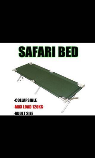 🚚 BLACK SAFARI BED- Just unfold and sleep. Easy use