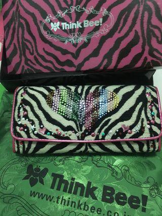 Think Bee! Punky Zebra Wallet