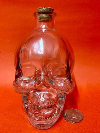 骷髏頭玻璃瓶