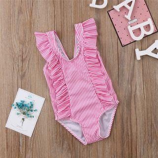 ⭐️Instock⭐️ One Piece Candy Stripes Swimsuit in Pink