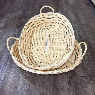 Hamper Basket Oval Shaped Basket with 2 handles