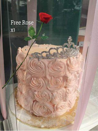 Mother's Day rose cake