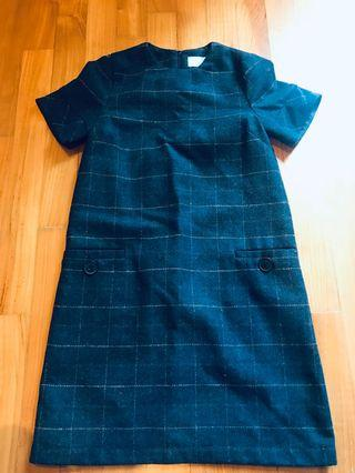 ASOS Wool Tweed Shift Dress
