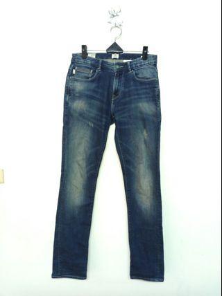 29腰 Timberland 藍底刷色 微彈性 低腰牛仔褲 (190417)