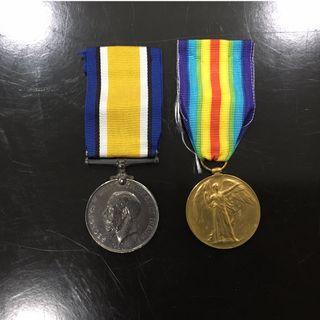 "British WW One Medals ""Mutt and Jeff"""