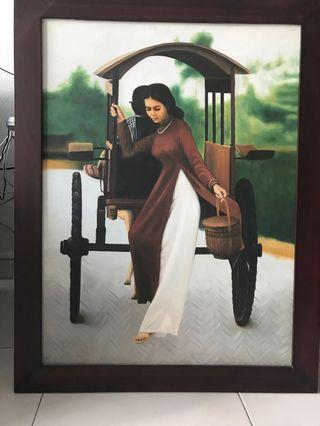 Canvas painting from Vietnam