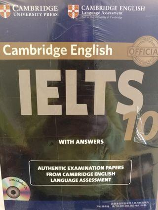 Brand New IELTS 10 exam papers with answrws