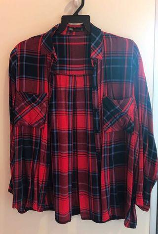 red checkered flannel for women