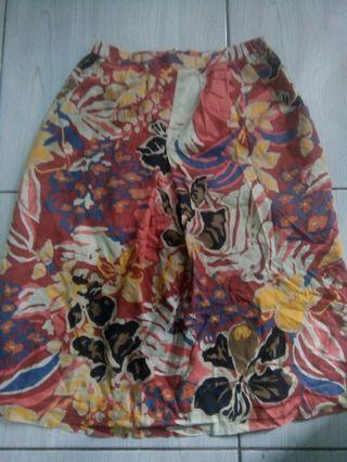 SKIRT FLORAL ABSTRACT