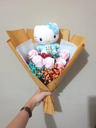 🚚 Hello Kitty Baby Breaths & Roses Bouquet #EndGameyourExcess